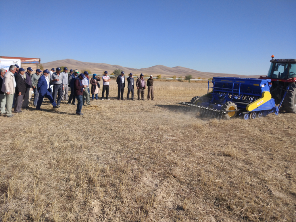 Farmer Field School - Demonstration of Conservation Agriculture practices. (Turkey)